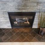 """Copper Rust Stanley"" Wall and ""Black Adoni"" Hearth"