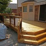 Cedar Deck With Black Aluminum Balusters